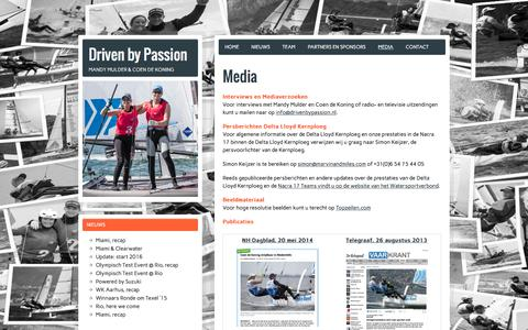 Screenshot of Press Page drivenbypassion.nl - Mediaverzoeken en interviews met Mandy Mulder en Coen de Koning - captured Feb. 18, 2016