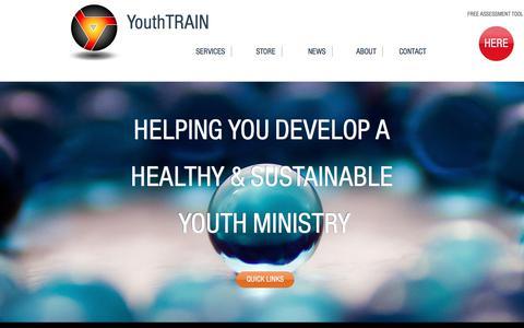 Screenshot of Home Page youthtrain.com - YouthTRAIN - captured Nov. 11, 2017