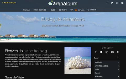 Screenshot of Blog arenatours.com - Blog | Arenatours - captured July 7, 2017