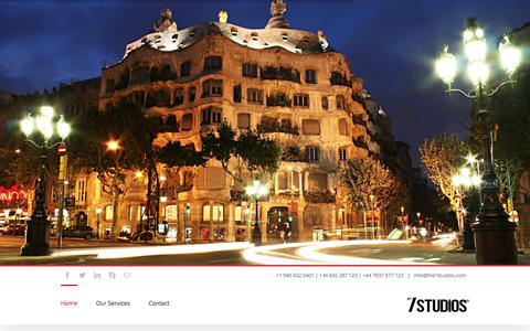 Screenshot of Home Page the7studios.com - The7studios España - captured Sept. 2, 2015
