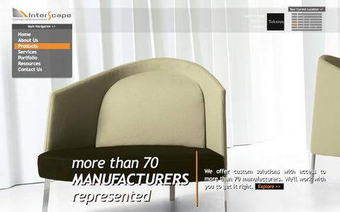 Screenshot of Products Page interscape.com - Products | Interscape - captured Oct. 6, 2014