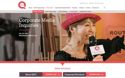 Screenshot of Press Page qvc.com - Press room - QVC - captured Aug. 19, 2016