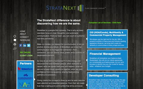 Screenshot of About Page stratanext.com - StrataNext, Inc | Strategic Property Management | About us - captured Dec. 16, 2016