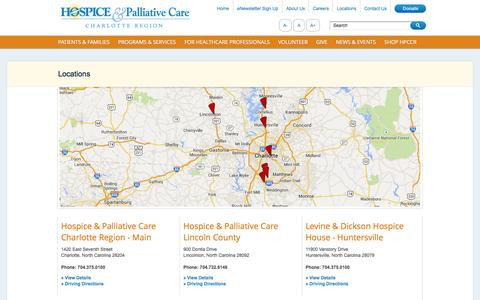 Screenshot of Locations Page hpccr.org - Magento Commerce - captured Oct. 3, 2014
