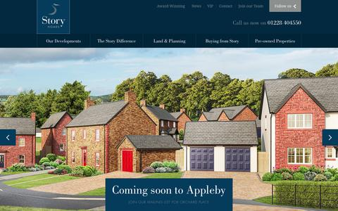 Screenshot of Home Page storyhomes.co.uk - Houses for sale in Cumbria, Lancashire, the North East and Scotland - captured Sept. 25, 2014