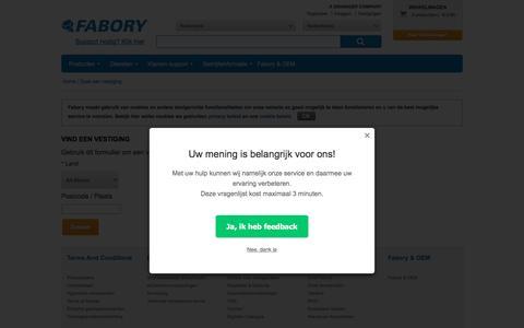 StoreFinder | Fabory, Nederland