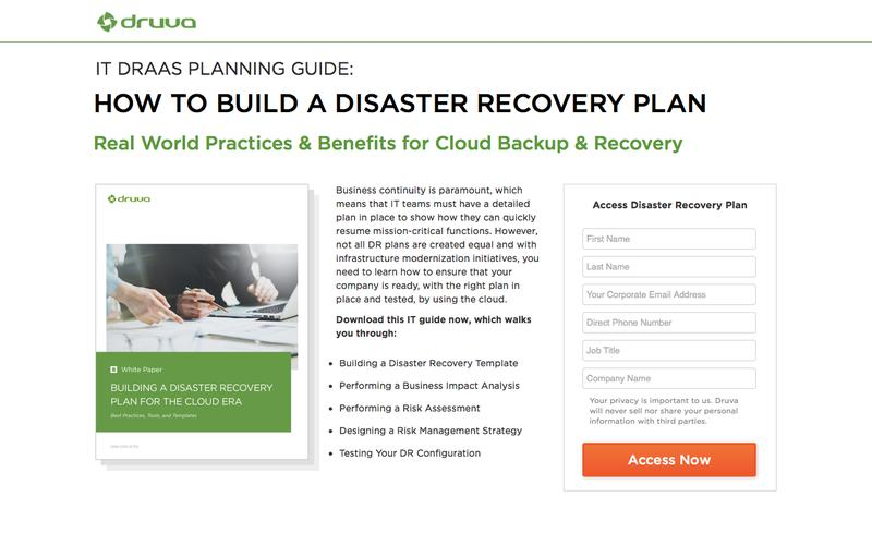 HOW TO BUILD A DISASTER RECOVERY PLAN USING THE CLOUD