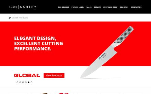 Screenshot of Home Page alcdashley.co.za - AL & CD Ashley - South African Distributors of famous houseware and kitchenware brands - captured Feb. 4, 2016