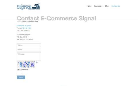 Screenshot of Contact Page ecommercesignal.com - Contact E-Commerce Signal | E-Commerce Signal - captured Dec. 5, 2015
