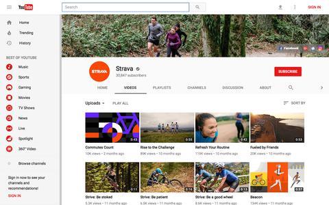 Strava - YouTube