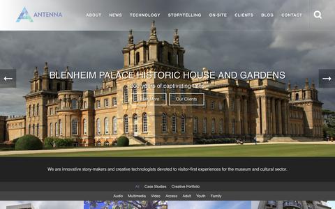 Screenshot of Home Page antennainternational.com - Antenna International - Leading Supplier of Cultural Interpretation & Guides - captured April 25, 2018