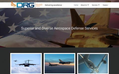 Screenshot of Home Page drgok.com - Aerospace Defense Contractor in Oklahoma City, OK - captured May 16, 2019