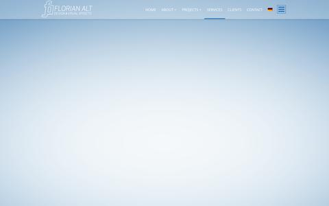 Screenshot of Services Page florianalt.net - SERVICES | Florian Alt – Design & Visual Effects - captured Oct. 6, 2014