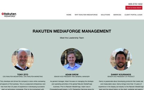 Screenshot of Team Page mediaforge.com - Managment | Rakuten Mediaforge - captured Sept. 17, 2014