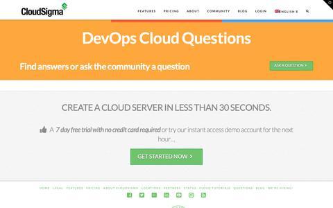 Screenshot of FAQ Page cloudsigma.com - ANSPRESS_TITLE - captured March 24, 2019
