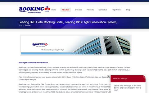 Screenshot of About Page bookingee.com - About us «  Bookingee.com B2B Flight Booking, B2B Hotel Booking - captured Oct. 10, 2017