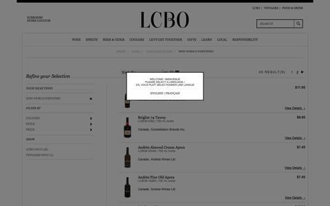 New World Fortified | LCBO