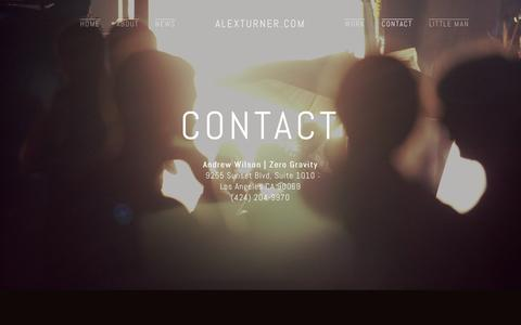 Screenshot of Contact Page alexturner.com - Contact — alexturner.com - captured Jan. 23, 2016