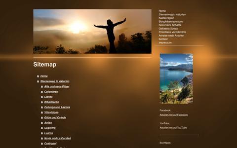 Screenshot of Site Map Page asturien.net - Asturien auf dem Sternenweg in Nordspanien - Home - captured April 4, 2017