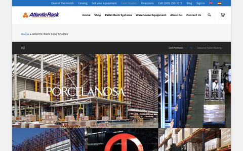 Screenshot of Case Studies Page atlanticrack.com - Case Studies | Atlantic Rack - captured Dec. 23, 2015
