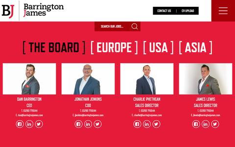 Screenshot of Team Page barringtonjames.com - Our Team - Barrington James - Barrington James - captured June 1, 2017
