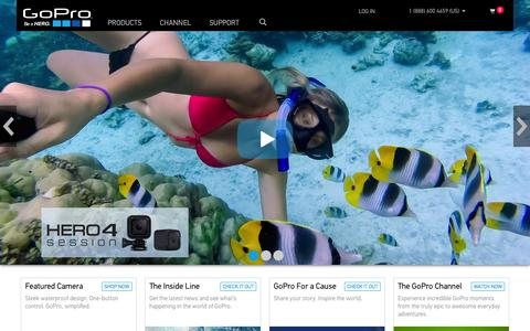 Screenshot of Home Page gopro.com - GoPro Official Website - Capture + share your world - captured Oct. 1, 2015
