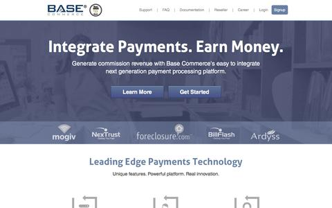 Screenshot of Home Page basecommerce.com - Base Commerce - captured March 19, 2016