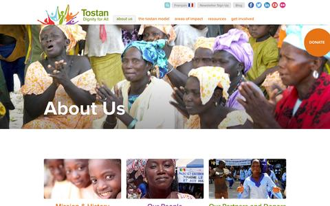 Screenshot of About Page tostan.org - About Us | Tostan - captured Feb. 23, 2016