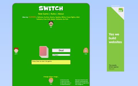 Screenshot of Home Page switch-cardgame.com - Switch Card Game - captured Sept. 24, 2014