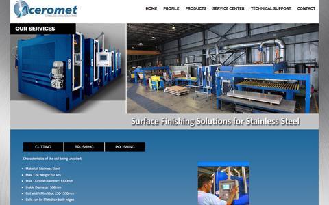Screenshot of Services Page aceromet.com - Aceromet - captured Nov. 2, 2014