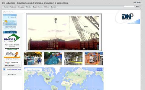 Screenshot of Home Page dnindustrial.com.br - - DN Industrial - Equipamentos, Fundição, Usinagem e Caldeiraria. - captured Oct. 5, 2014