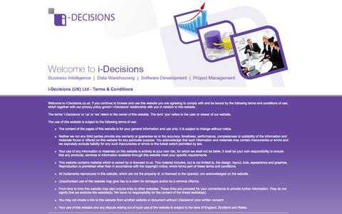 Screenshot of Terms Page i-decisions.co.uk - i-Decisions | Terms & Conditions - captured Oct. 6, 2014