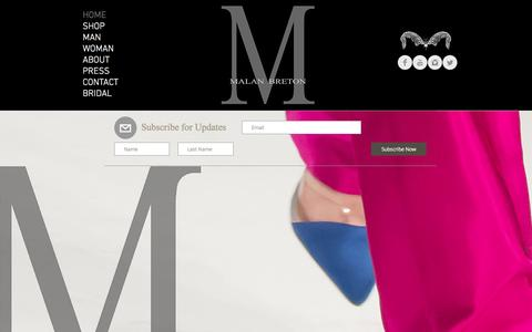 Screenshot of Home Page malanbretonhomme.com - Malan Breton - captured March 4, 2016