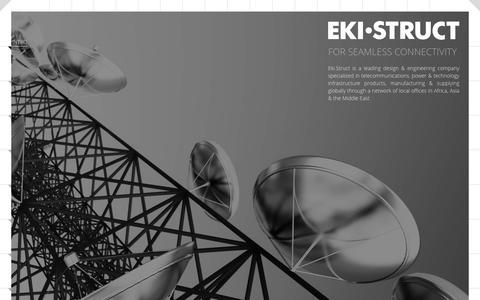 Screenshot of Home Page ekistruct.com - Eki.Struct – FOR SEAMLESS CONNECTIVITY - captured July 12, 2016