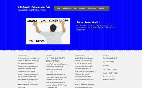 Screenshot of Home Page jmfrade.com captured Oct. 3, 2014