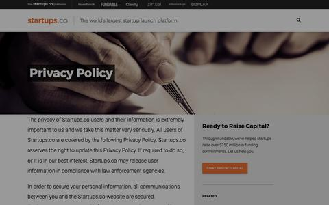 Privacy Policy | Startups.co