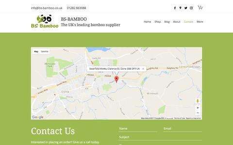 Screenshot of Contact Page bs-bamboo.co.uk - Contact | BS-Bamboo - captured March 2, 2017