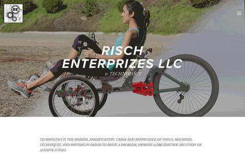 Screenshot of About Page rischenterprizes.com - About — Risch Enterprizes - captured July 10, 2018