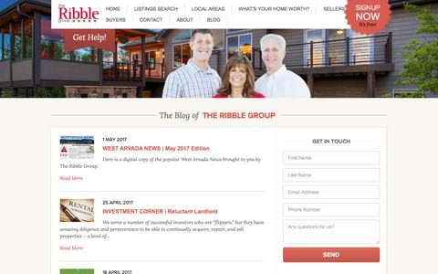 Screenshot of Blog theribblegroup.com - The Ribble Group l Wheatridge Colorado - captured May 7, 2017