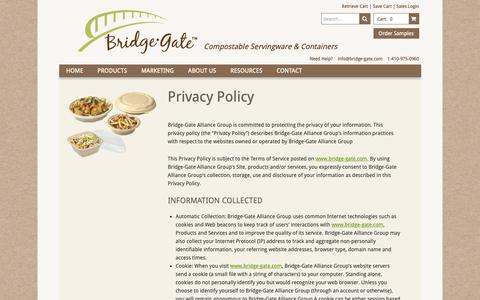 Screenshot of Privacy Page bridge-gate.com - Privacy Policy - captured Oct. 6, 2018