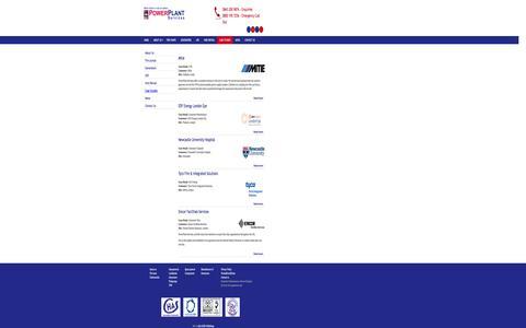 Screenshot of Case Studies Page ppspower.com - Case Studies | PowerPlantServices - captured Oct. 2, 2014