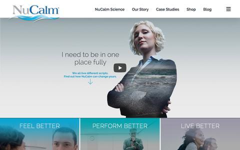 Screenshot of Home Page nucalm.com - NuCalm ® - Feel Better. Perform Better. Live Better - captured Sept. 24, 2018
