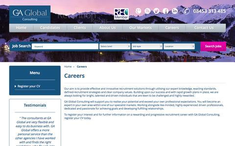 Screenshot of Jobs Page gaglobal.eu - GA Global Career Opportunities   GA Global - captured Oct. 1, 2014