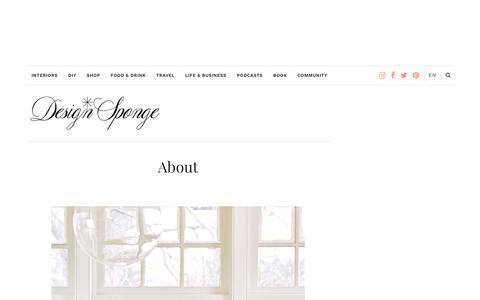 About – Design*Sponge