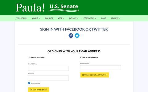 Screenshot of Login Page nationbuilder.com - Sign in - captured July 3, 2018