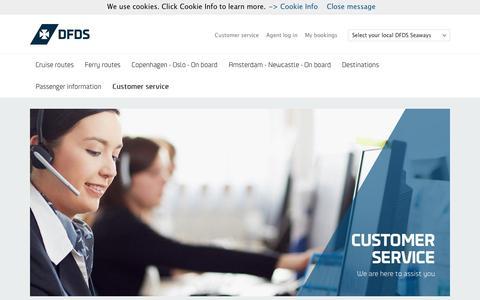 Screenshot of Support Page dfdsseaways.com - Customer service - captured Dec. 24, 2016