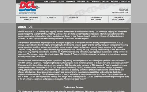Screenshot of About Page dcl-usa.com - About Us | History, Products, Locations, Staff - captured Oct. 5, 2014