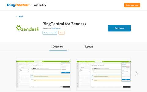 RingCentral for Zendesk | RingCentral App Gallery