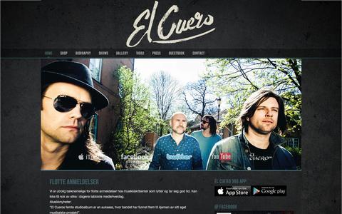 Screenshot of Home Page el-cuero.com - El Cuero - captured Oct. 8, 2015