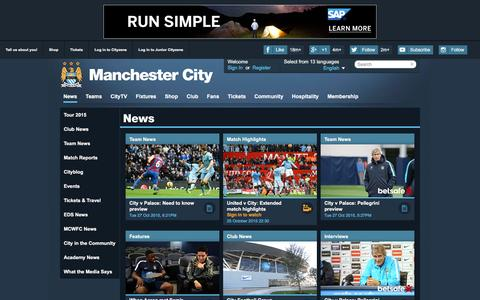 Screenshot of Press Page mcfc.co.uk - Manchester City News | Features | Match Reports & Tickets News - Manchester City FC - captured Oct. 28, 2015